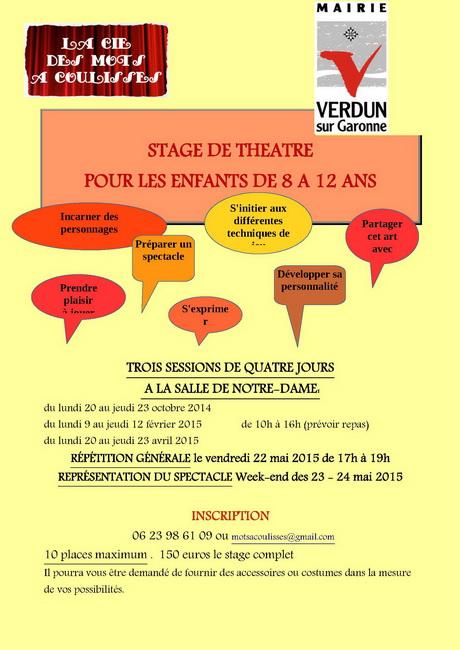 affiche stage verdun